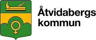 Ãtvidabergs kommuns logotyp, länk till startsidan